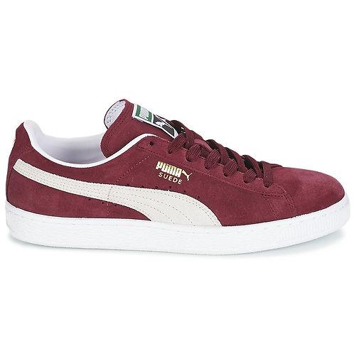 PUMA - Sneakers SUEDE CLASSIC - Rosso / Bianco BORDEAUX scarpe uomo donna urban loop