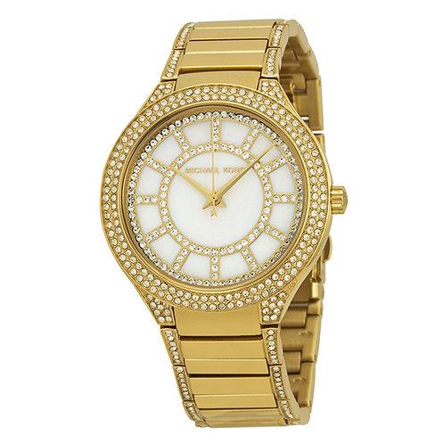 MICHAEL KORS KERRY MK3312 - Orologio donna in acciaio dorato con strass orologi donna