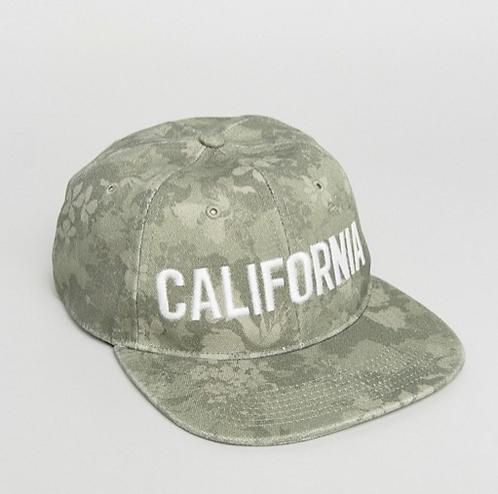 cappello uomo snapback hollister berretto mimetico verde militare visiera piatta cappelli estate urban loop