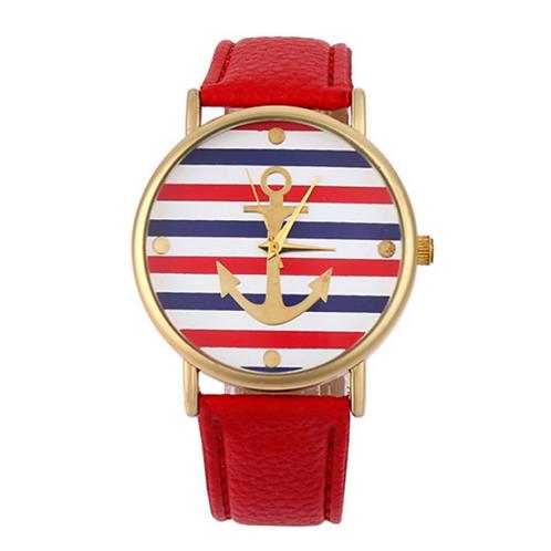 orologio uomo donna righe ancora ancore rosso watch polso anchor navy urban loop