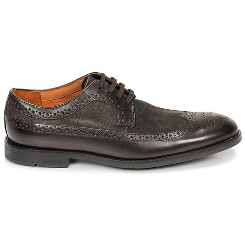 CLARKS -  Ronnie limit - Scarpe stringate in pelle marroni