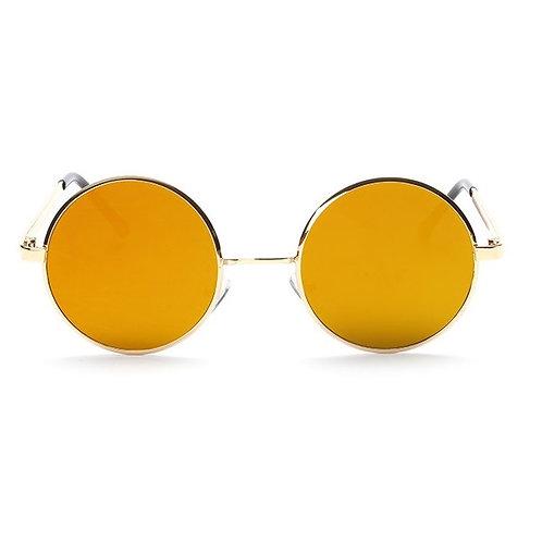 Occhiali da sole retrò oversize LENNON - Arancio