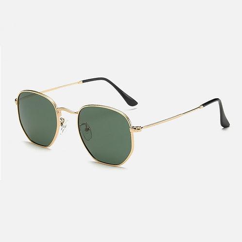 occhiali da sole uomo donna nero oro hexagonal esagonali vintage retrò montatura metallo urban loop