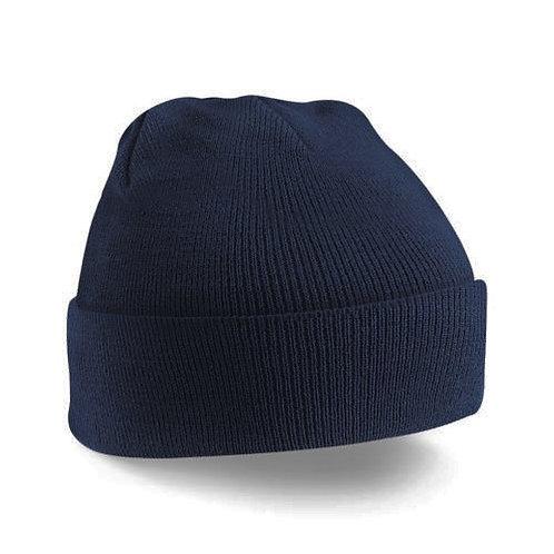 Berretto unisex invernale con fondo rivoltato a coste costine pescatore beanie cuffia cappello vintage blu urban loop