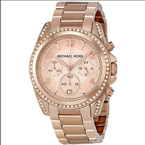 Michael Kors MK5263 Blair - Orologio donna in acciaio rosa con cronografo orologi donne urban loop