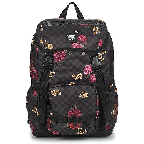 VANS - Vm ranger backpack - Zaino nero a quadri / floreale