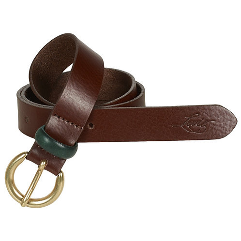 LEVI'S - Larkspur - Cintura in pelle marrone