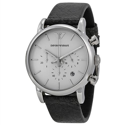 OROLOGIO AR1810 UOMO EMPORIO ARMANI - Con cinturino in pelle nero e cronografo orologi uomo urban loop