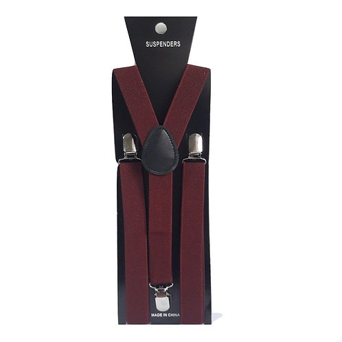 """Bretelle slim - Forma """"Y"""" - Larghezza 2,5 cm - Bordeaux"""