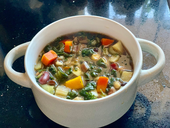 Beans and hearthy vegetable soup