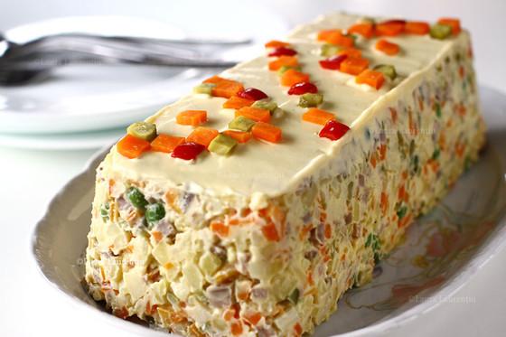 Salade de No-Boeuf (Eastern European traditional appetizer made WFPB no Oil, Sugar, or Salt)