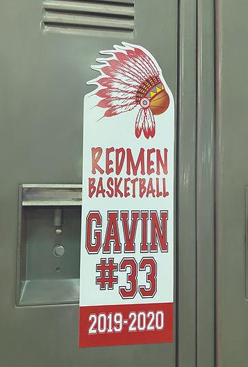 Redmen Basketball Magnet on Locker_1.jpg
