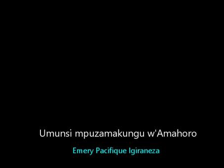 Ijambo ry'umukuru w'umuhari MAP-Burundi Buhire kumunsi mpuzamakungu wahariwe amahoro