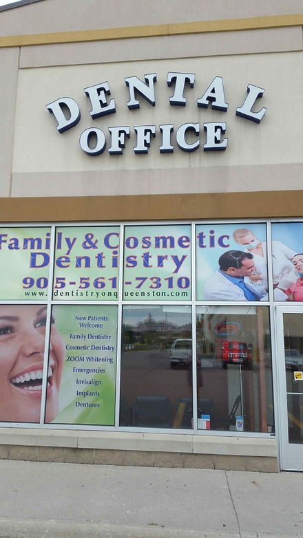 Dentistry on Queenston's Dental Office in Hamilton's looks from the outside