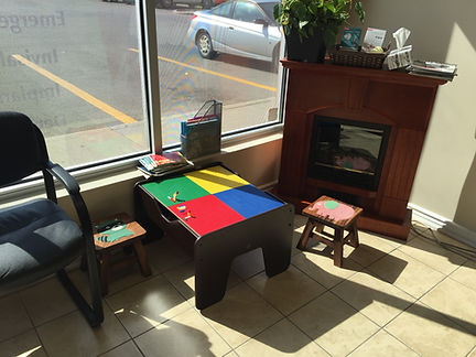 Another look at the patient waiting area at the dentist office of Dentistry on Queenston, Hamilton, ON