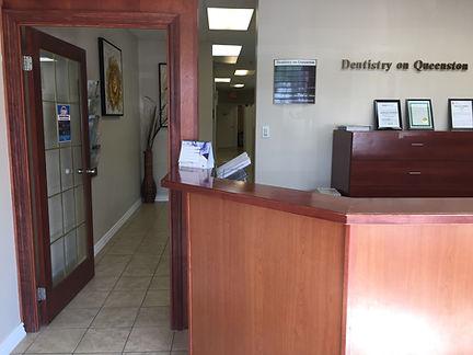 Hallway area of dentist office of Dentistry on Queenston, Hamilton, ON