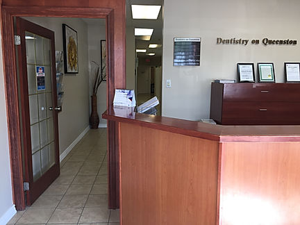 Hallway area of dentist office of Dentistry on Queenston, Hamilton, ON