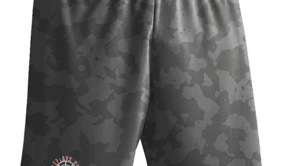 ShePlays Black Camo Shorts
