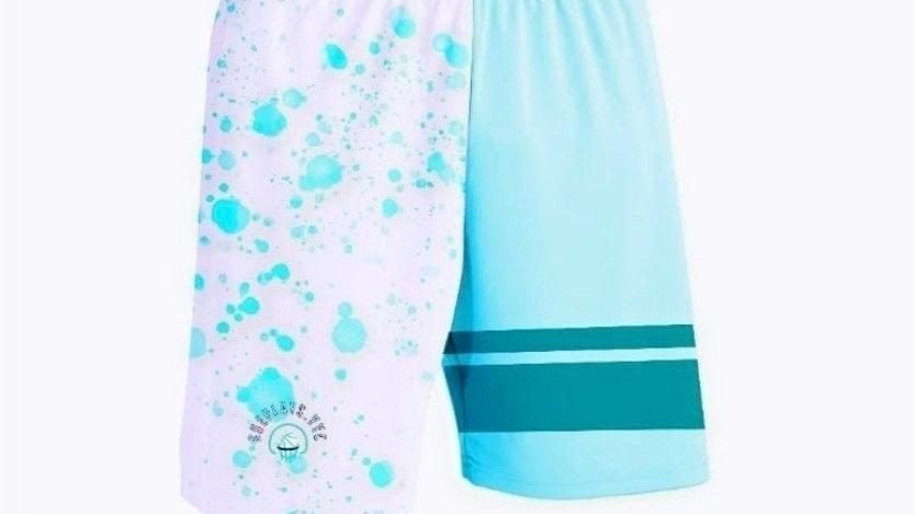 ShePlays Splatter Teal Shorts