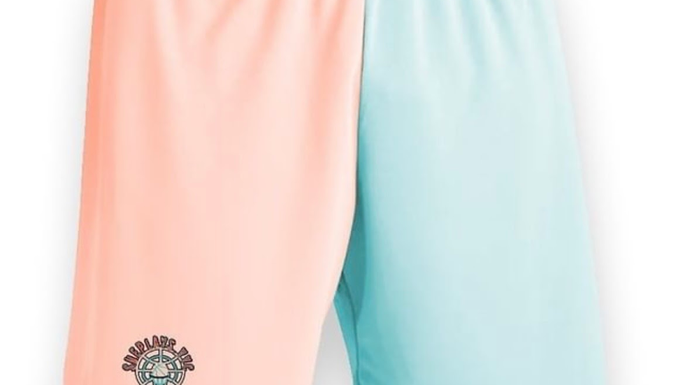 ShePlays Two Toned pink and teal shorts