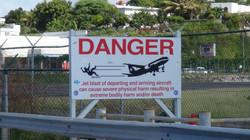 Sint Maarten Jet Blast Sign