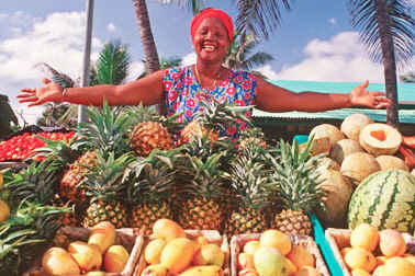 Dominican Republic Produce Lady