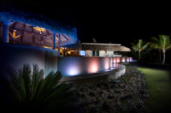DR300 Pool and Jacuzzi at Night