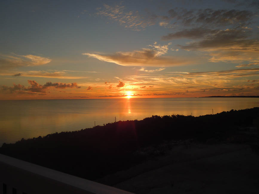 Sunset over Atlantic Ocean (west)