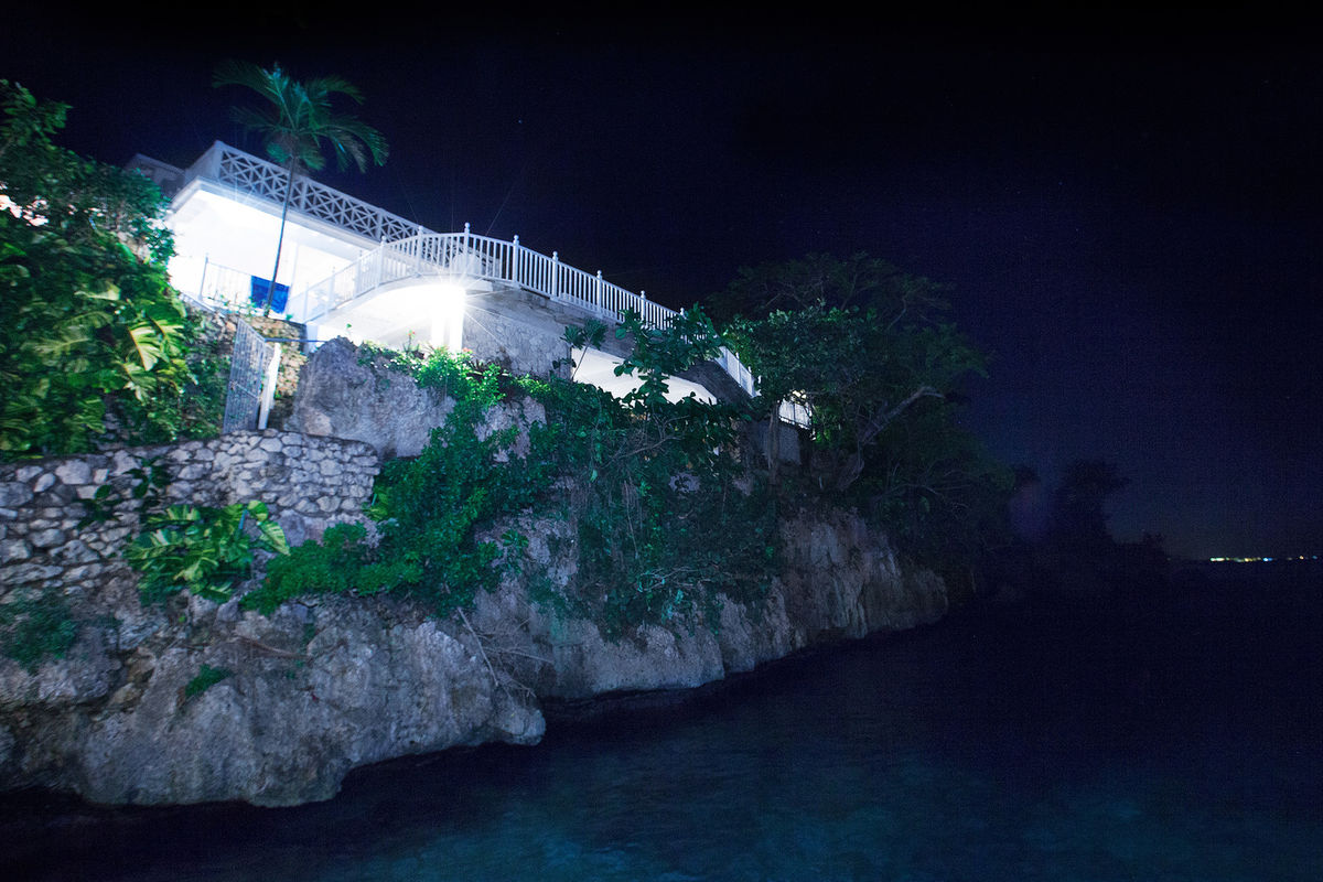 JM251 Villa from Sea at Night