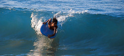 Surfing in Acapulco