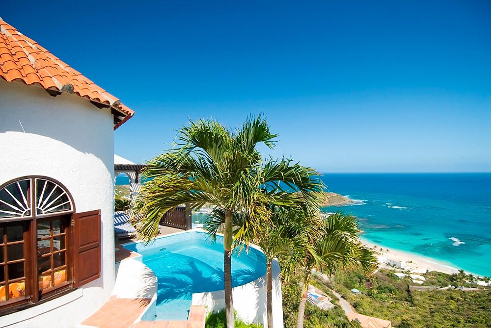 A charming one bedroom hillside cottage overlooking Dawn Beach on Sint Maarten.