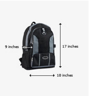 United Personal Item Size