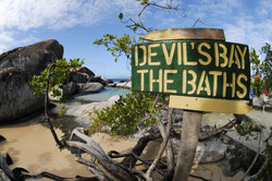 Devils Bay / The Baths sign