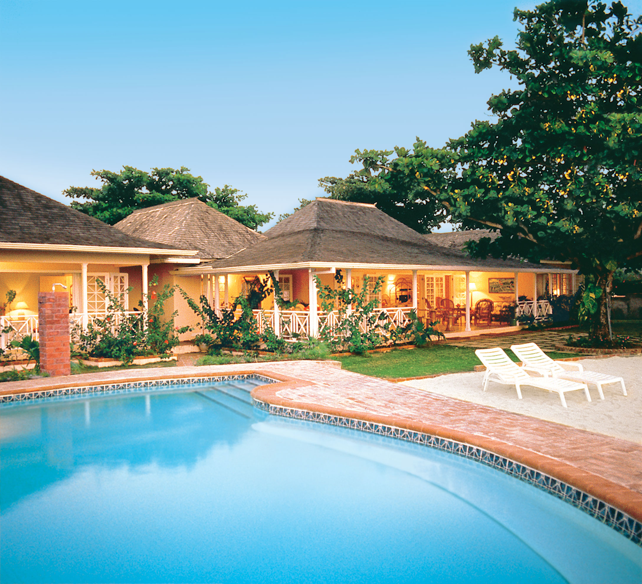 JM144 View of Villa From Pool