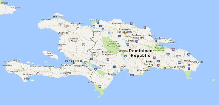 Map of Dominican Republic (Hispanola)