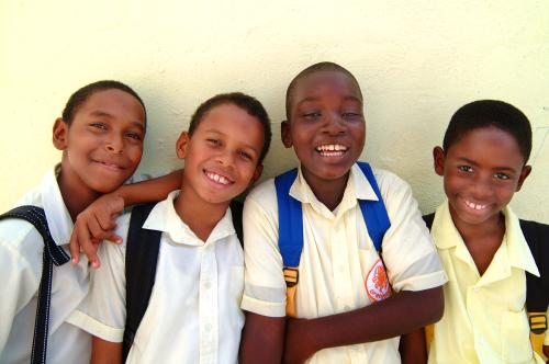 Smiling School Boys