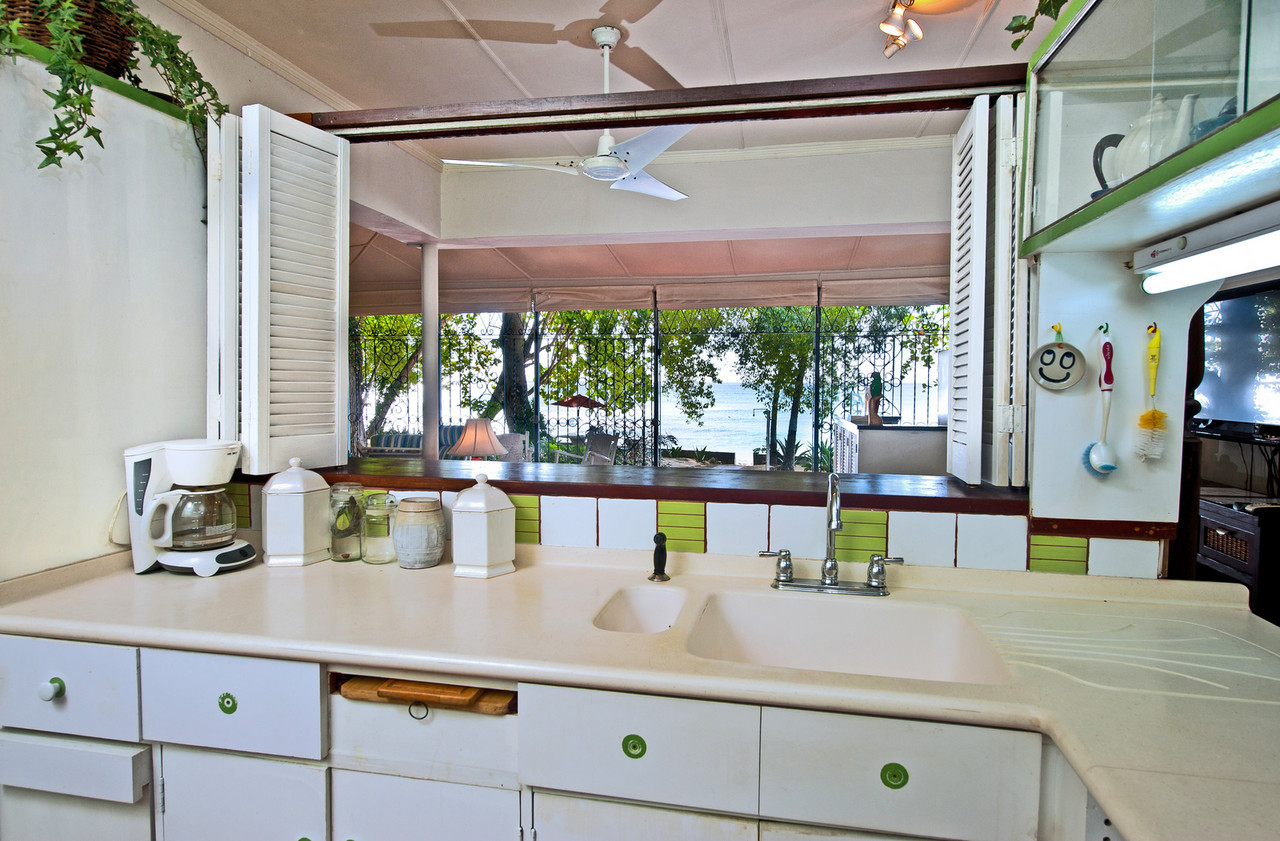 BB331 Kitchen with View to Beach