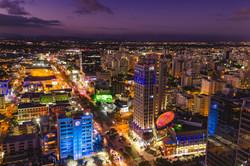 Downtown Santo Domingo at Night