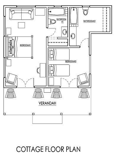 JM236 Cottage Floor Plan