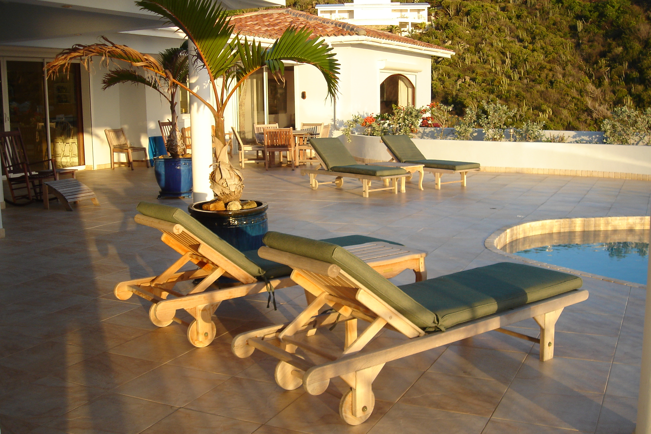 SM330 Chaise Lounges by Pool