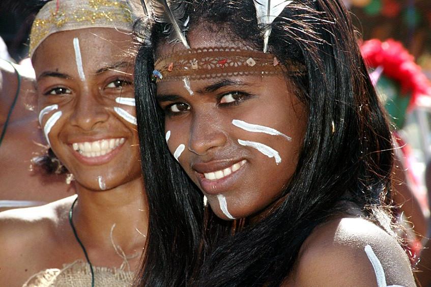 Dominican Girls In Taino Attire