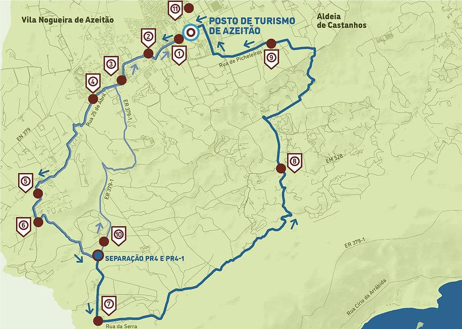 Arrábida Walking Trails | Mapa PR4 | Aldeias de Azeitão