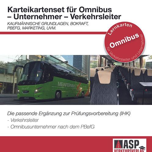 Karteikarten Omnibus / Verkehr Unternehmer- Verkehrsleiter (IHK)