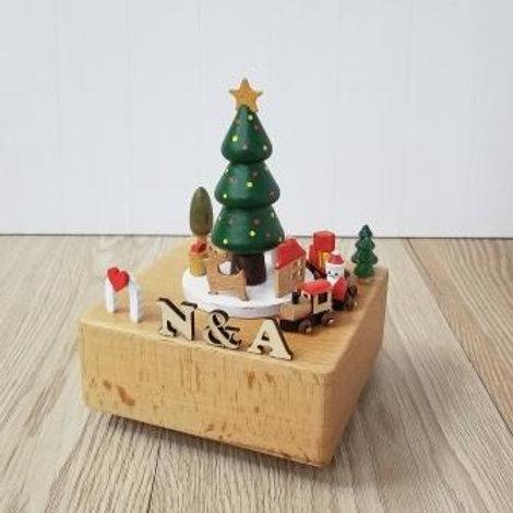 Custom Wooden X'mas Music Box - My Love X'mas Tree 木製聖誕音樂盒(加名字) - 聖誕樹下奇遇
