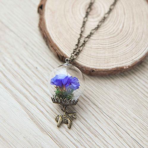 Dried Flowers Necklace 手造乾花項鍊