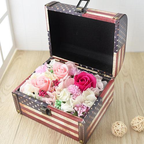 American Flag Jewelry Box Flowers 美國旗首飾花盒