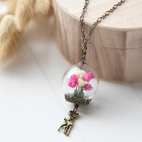 Dried Flowers Necklace 手造乾花項鍊