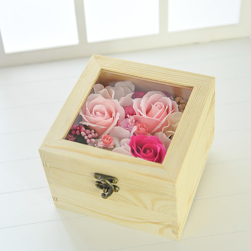 Wooden Jewelry Box Flowers 木製首飾花盒