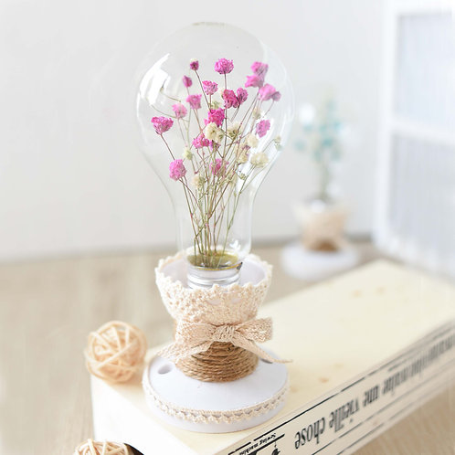 Lightbulb Flowers 滿天星乾花裝飾燈