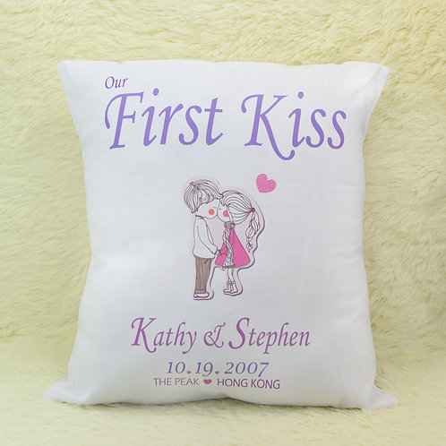 """""""Our First"""" Throw Pillow """"我們的""""靠枕"""